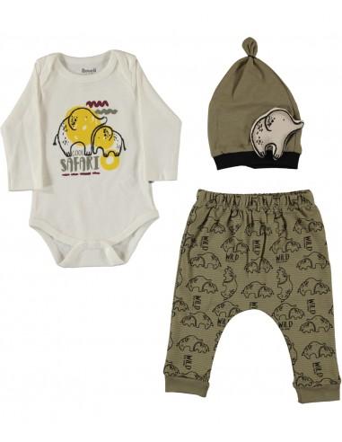 Komplet za dojenčka - slončka na...