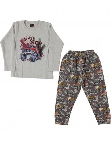 Pižama za fantka - Never stop džipi...