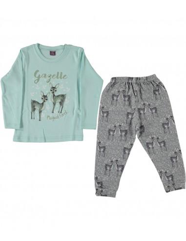 Pižama za punčke mala ritka, dekliška pižama