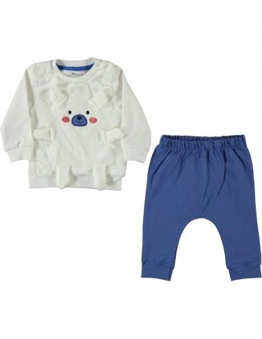 Trenirka za dojenčka - modri medvedek...