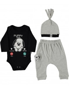 komplet za dojenčka bodi kapica hlače