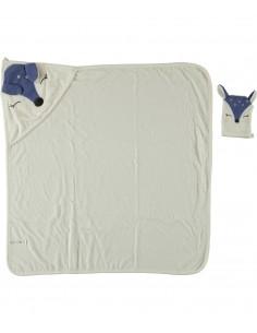 brisača za dojenčka s kapuco in krpica