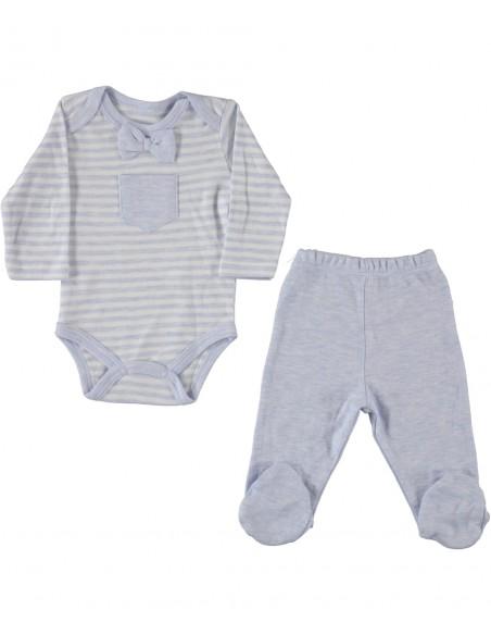 Komplet za novorojenčka ali dojenčka - žabice / hlačke in bodi z dolgimi rokavi