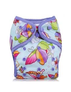Prekrivne pralne hlačke Mala Ritka vijolični metulji