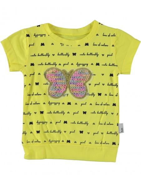 Majica s kratkimi rokavi dekliška za punčko za deklico