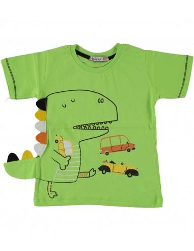 Majica s kratkimi rokavi - zelen...