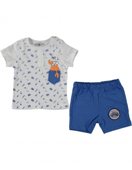 komplet za fantka dojenčka kratke hlače