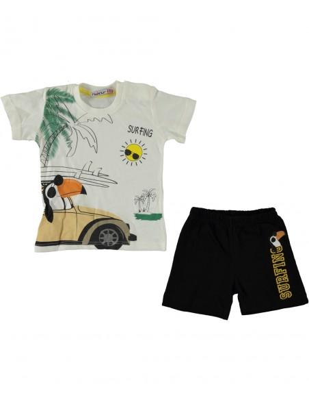 komplet za fantka dojenčka kratke hlače majica