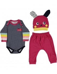 komplet za dojenčka mala ritka kapica hlače bodi