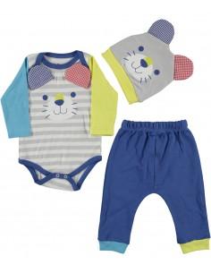 komplet za dojenčka bodi hlače kapica mala ritka