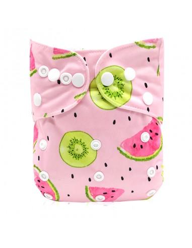 Žepasta pralna plenica Mala Ritka  roza lubenica