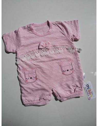 Pajac za dojenčka - roza