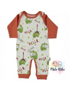 Pajac za dojenčka - oranžen