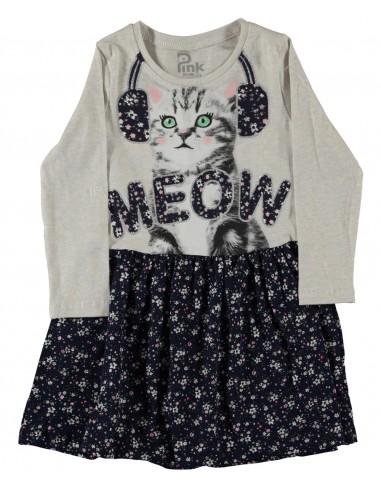 Oblekica (tunika) za punčko - muca...